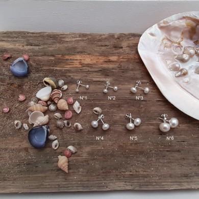 Boucles d'oreilles (non pendantes) perle de culture d'eau douce