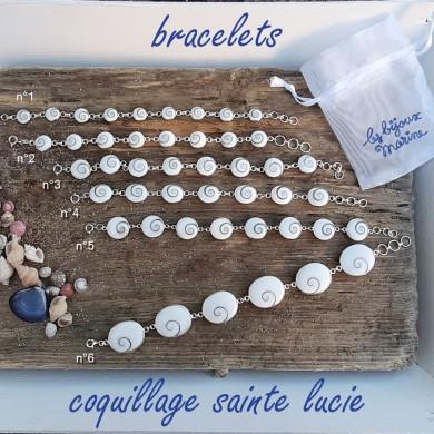 Bracelet coquillage Sainte Lucie n°1 - SBR001