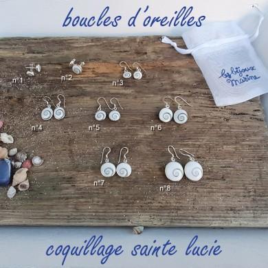 Boucles d'oreilles coquillage Sainte Lucie