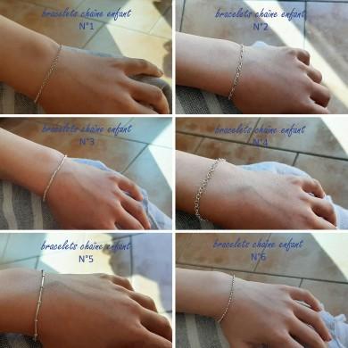 Bracelet enfant chaine en argent massif - BRH001