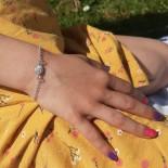 Bracelet enfant coquillage Sainte Lucie en argent massif