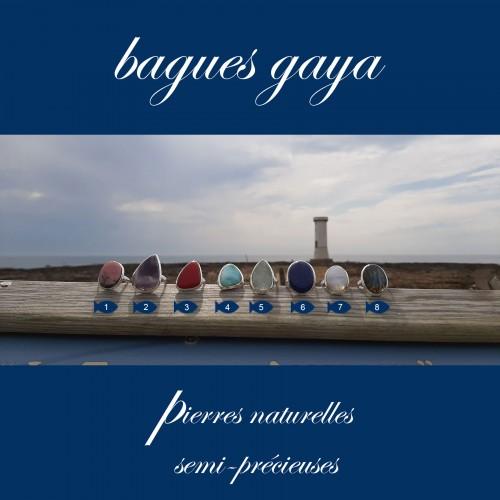 Bagues Gaya - Pierre Naturelle semi-précieuse