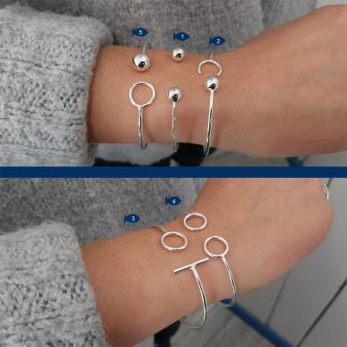 Bracelet solo rigide ohm - BRR007
