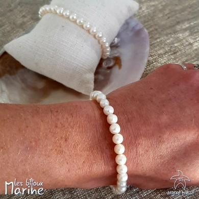 Bracelet perle d'eau douce 6/7mm