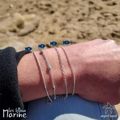 Bracelets chaîne en argent massif