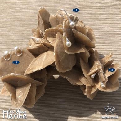 Boucles d'oreilles pendantes perle d'eau douce