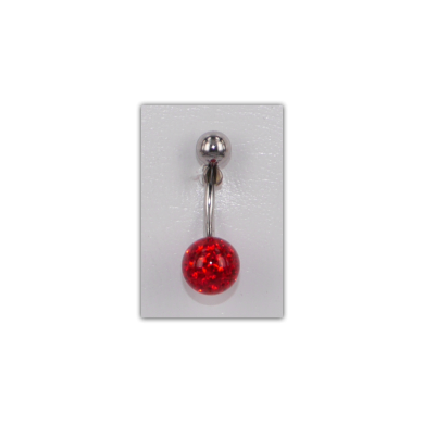 Piercing nombril Strass Disco rouge - PER002