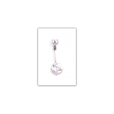 Piercing nombril Strass double blanc - PER010