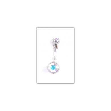 Piercing nombril Strass double irisé - PER016