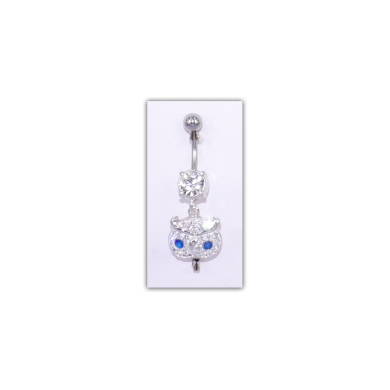Piercing nombril Strass motif hibou - PER031