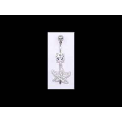 Piercing nombril Strass motif étoile de mer - PER032
