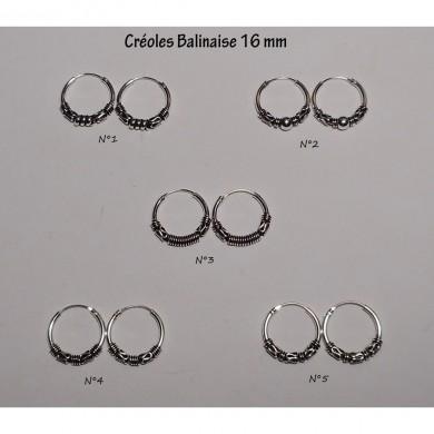 Créole Balinaise 16 mm