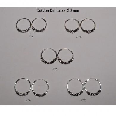 Créole Balinaise 20 mm