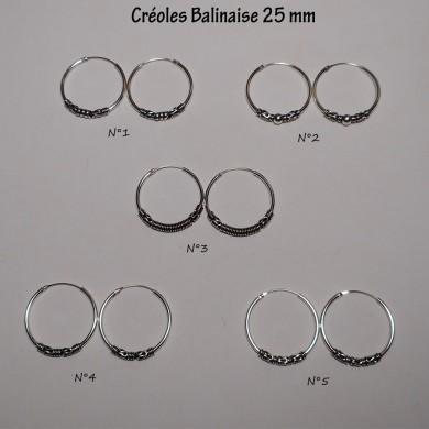 Créole Balinaise 25 mm