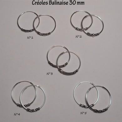 Créole Balinaise 30 mm