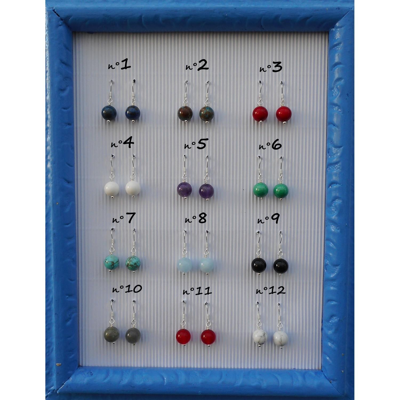 Boucles d'oreilles pierres naturelles semi-précieuse, création