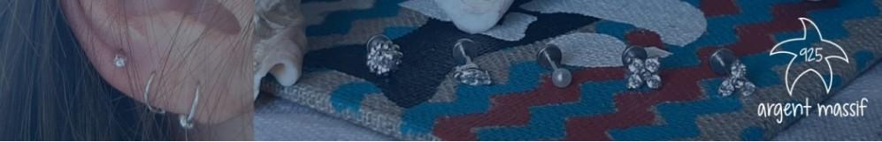 Piercings argent massif - Les Bijoux Marine
